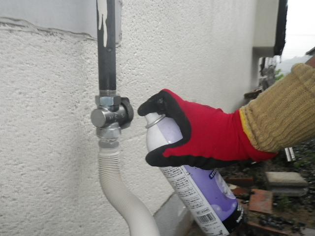 ガス給湯器取替工事 (川辺郡猪名川町) ガス漏れチェック②