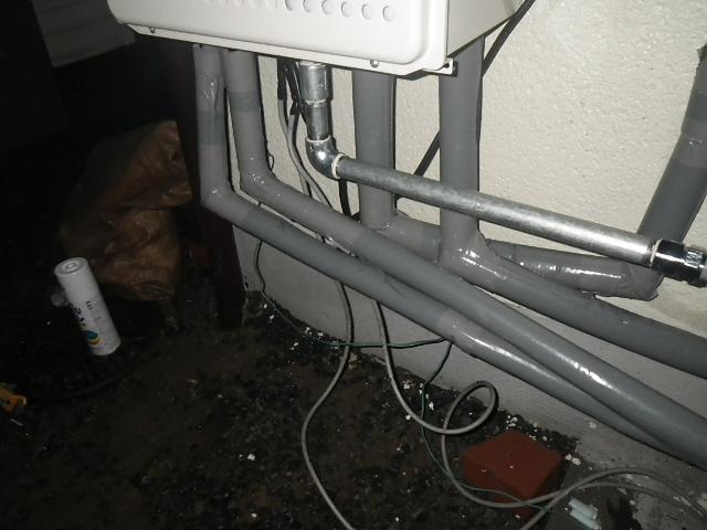 ガス給湯器取替工事 (川辺郡猪名川町) 保温材取付後