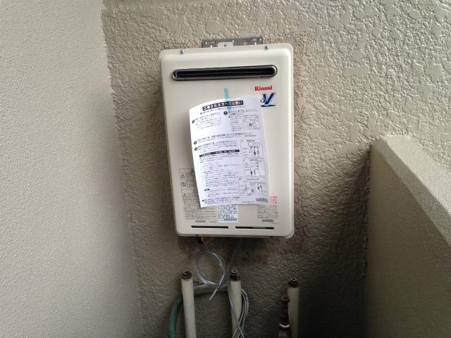 給湯器高温水供給式タイプ取替工事 (芦屋市) 高温水供給式給湯器取付固定後