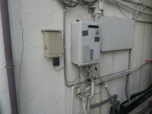 ガス給湯器[給湯専用]取替工事 (神戸市灘区) 施工前