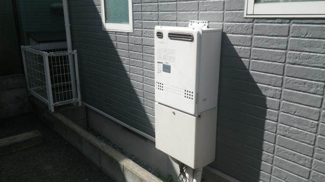 ガス給湯器エコジョーズ取替工事(神戸市灘区)取替前