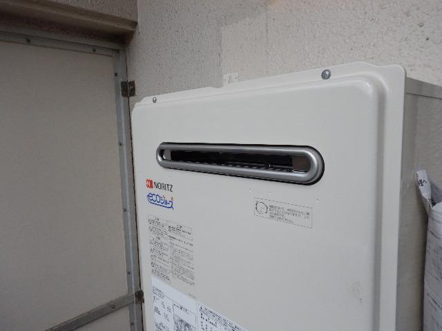 ガス給湯器エコジョーズ取替工事(神戸市中央区)本体固定設置後