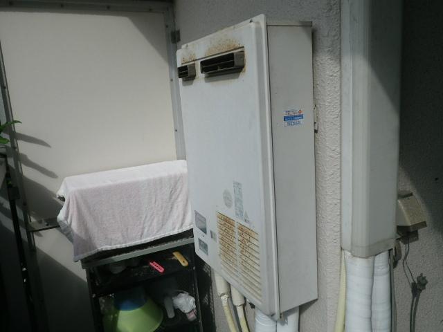 ガス給湯器エコジョーズ取替工事(神戸市中央区)取替前