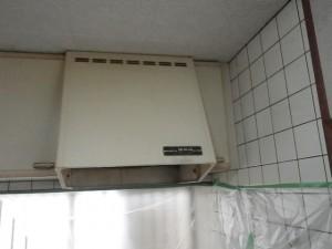 プロペラ式換気扇からレンジフード取替工事(神戸市兵庫区)施工前
