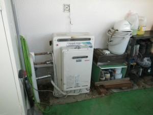据置型エコジョーズ取替工事(神戸市西区)施工前