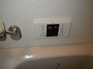 後方排気型給湯器施工事例(大阪府富田林市)RC-B001 浴室リモコン