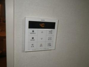 後方排気型給湯器施工事例(大阪府富田林市)RC-B001台所リモコン