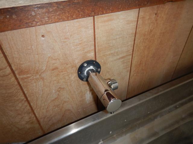 小型電気温水器新規取付工事(加古川市)水栓取替完了後