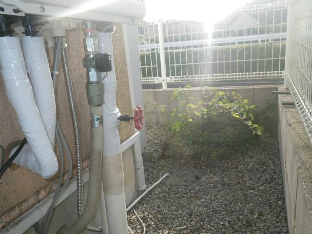 エコジョーズ取替工事(姫路市)ドレン排水設置後