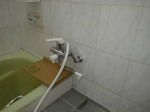 浴室シャワー水栓取替工事(神戸市東灘区)施工前