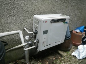 ガス給湯器エコジョーズ取替工事(神戸市東灘区)取替前