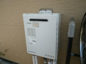 ガス給湯器取替工事(川辺郡)取替施工前。