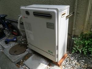 ガス給湯器取替工事(神戸市須磨区)取替施工前