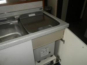 食洗機取替工事(神戸市垂水区)取替施工前