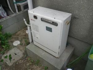ガス給湯器取替工事(神戸市垂水区)取替施工前