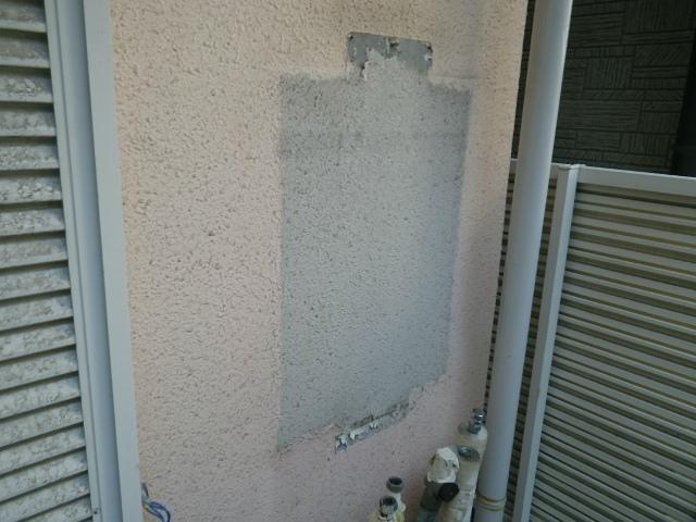 ガス給湯器取替工事(神戸市東灘区)既設給湯器撤去完了