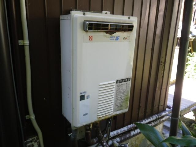ガス給湯器取替工事(神戸市中央区)既設給湯器