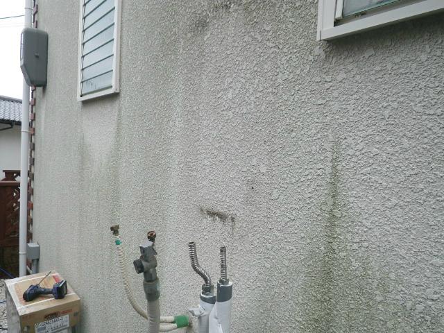 ガス給湯器エコジョーズ取替工事(西宮市)既設給湯器撤去完了後