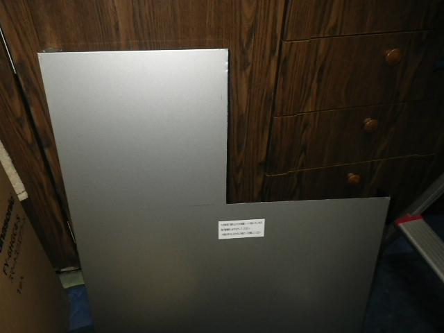 Panasonic(パナソニック)レンジフード取替工事(明石市)前幕板加工完了後