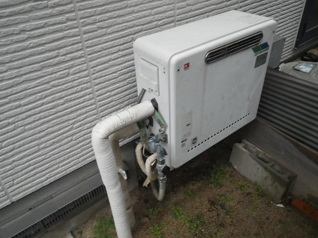 給湯器取替工事(神戸市北区)既設給湯器