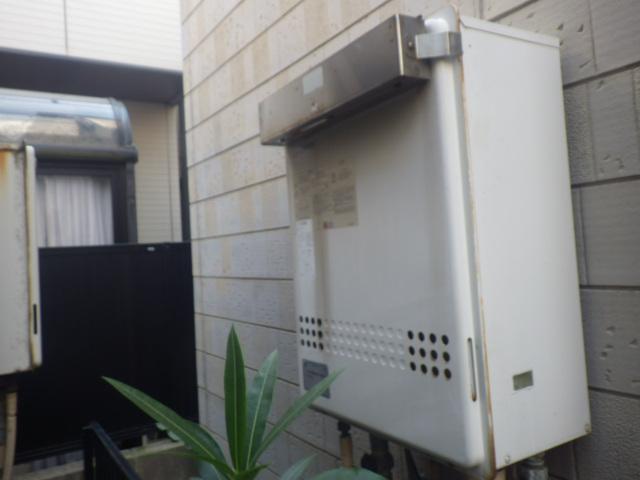給湯器取替工事(神戸市須磨区)既設給湯器