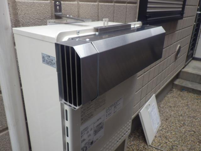 給湯器取替工事(神戸市東灘区)排気アダプター取付後