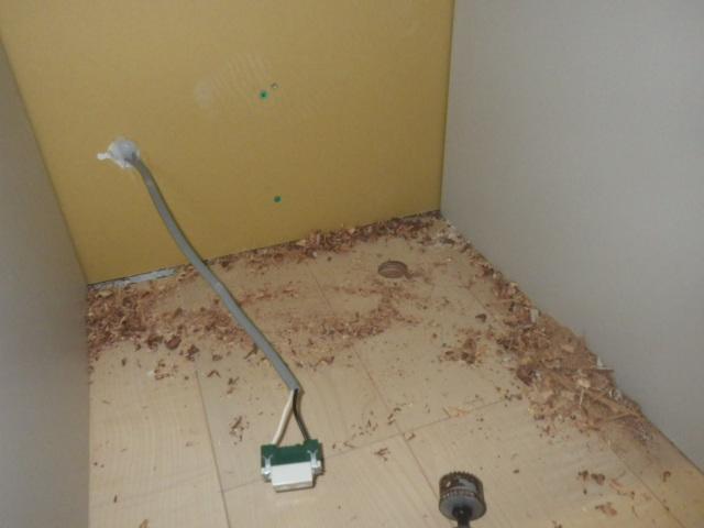 食器洗い機新設工事(加西市)コンセント設置後