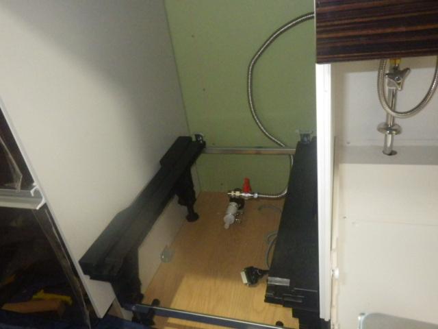 食洗機新設工事(三木市)食洗機下準備