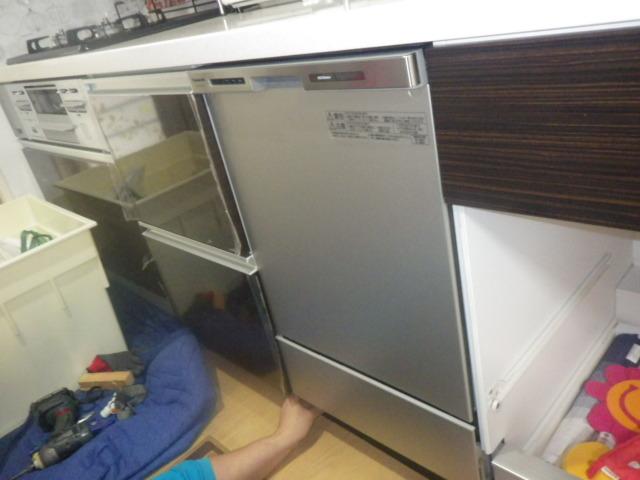 食洗機新設工事(三木市)食洗機取付後