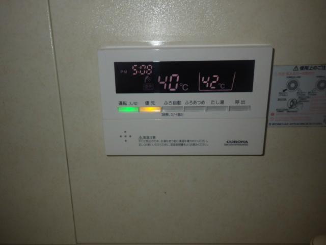 石油給湯器取替工事(丹波市)浴室リモコン取替完了後