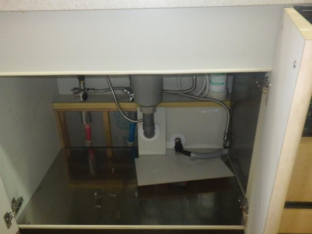 食洗機取替え工事(神戸市垂水区)既設配管