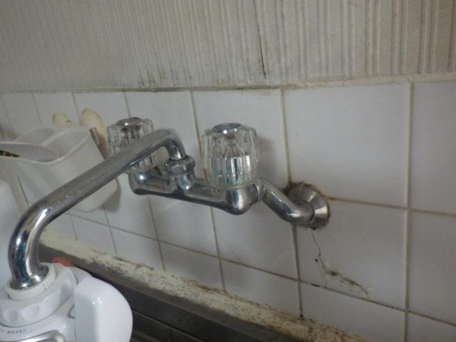 ノーリツ GT-2050SAWX-2 給湯器取替工事(神戸市垂水区)既設キッチン水栓