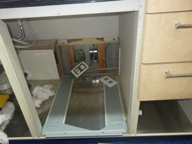食洗機取替え工事(神戸市垂水区)キッチン加工