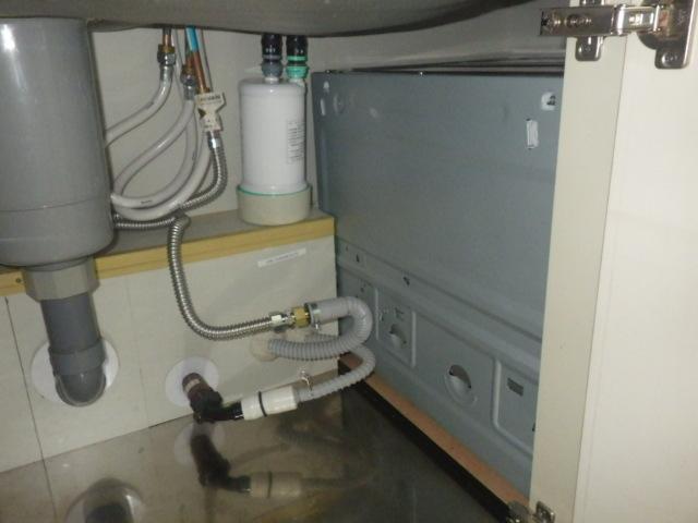 食洗機取替え工事(神戸市垂水区)新設配管