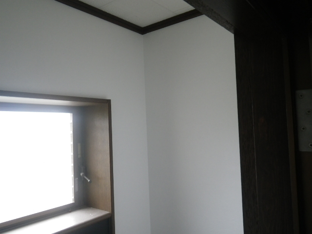トイレ取替え工事 壁面クロス張替え完了後